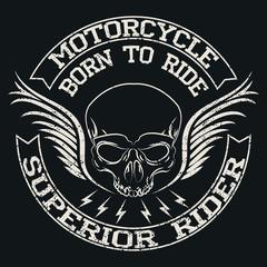 Motorcycle Emblem.Vintage typography design for biker club, For t-shirt or other uses.