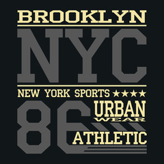 Athletic sport typography, t-shirt graphics, Creative design, .