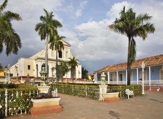 Plaza Mayor in Trinidad. Cuba