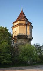 Water tower at railway station in Biala Podlaska. Poland