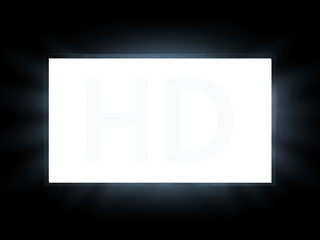 TV screen isolated. lcd panel mockup. Blank television. Vector illustration.