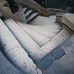 ancient stairs in istanbul
