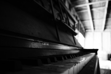 Old and Dusty Piano