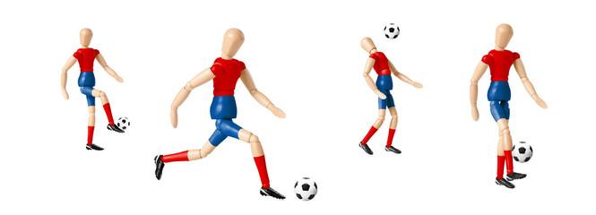 Gliederpuppe Fussball Spieler