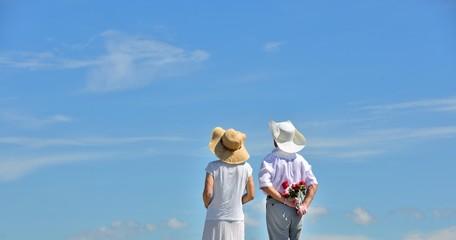 青空と薔薇と二人