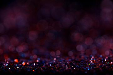 Red purple glitter vintage background defocused