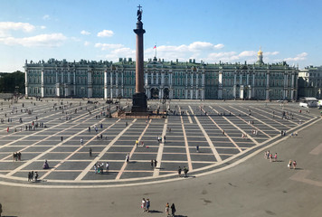 A general view shows the State Hermitage Museum in St. Petersburg