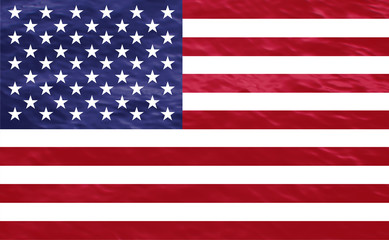 American flag of the United States with natural textures and faded background.