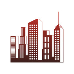 City buildings isolated vector illustration graphic design