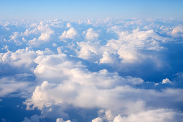 Sky with white clouds. Can be used as background.