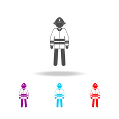 silhouette of a fireman icon. Elements of special forces in multi colored icons. Premium quality graphic design icon. Simple icon for websites, web design, mobile app