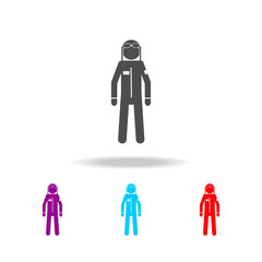 silhouette of military pilot icon. Elements of special forces in multi colored icons. Premium quality graphic design icon. Simple icon for websites, web design, mobile app