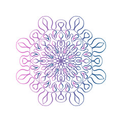 colorful mandala logo design  mandala pattern vector