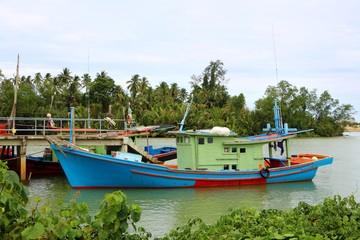 A wooden fishing boat at Kuala Terengganu