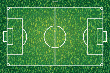 Soccer football field pattern and texture  background. Vector illustration.