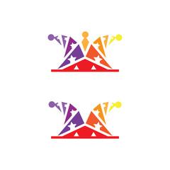 Joker hat photos royalty free images graphics vectors videos clown hat logo icon template maxwellsz
