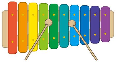 カラフルな木琴のイメージイラスト