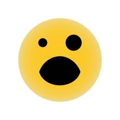Black eye emoji vector icon. Simple element illustration. Black eye emoji symbol design. Can be used for web and mobile.