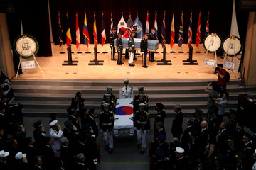 The Mutual Repatriation ceremony of soldier's remains between South Korean and UNC