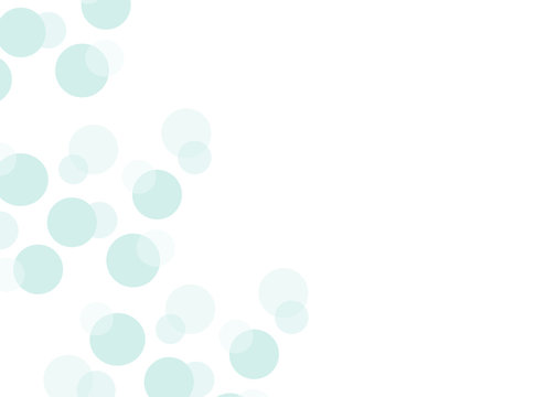 Simple greeting card with floating bubbles and space for text. Pastel blue polka dots for baby shower, cards, invitations, announcements, notes and more. Abstract slide background.