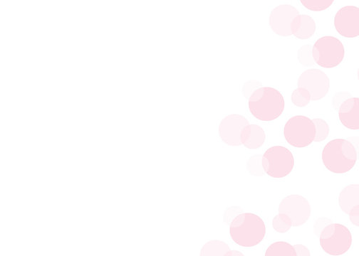 Simple greeting card with floating bubbles and space for text. Abstract polka dot slide background. Pastel pink polka dots for baby shower, cards, invitations, announcements, notes and more.