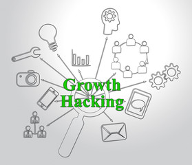 Growth Hacking Website Improvement Tactics 2d Illustration