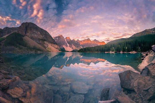 The Sunrise hour at Banff
