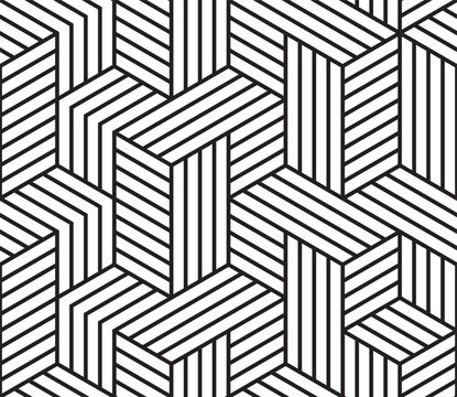 Abstract geometric pattern vector background of seamless mosaic grid lines pattern
