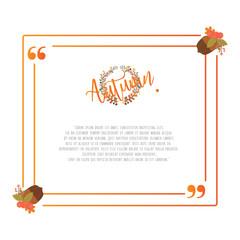Quote Autumn Frame Design Elements Template
