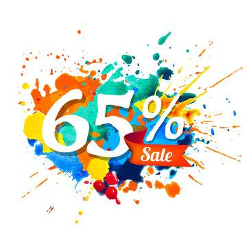 65 percents sale. Ssplash paint
