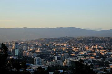 Aerial view on tiblisi, georgia