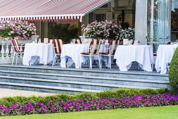 Luxury Italian Restaurant in a Blooming Garden