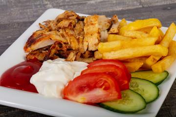 shawarma in plate