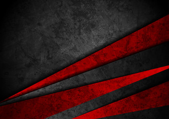 Grunge tech material red and black background Fototapete