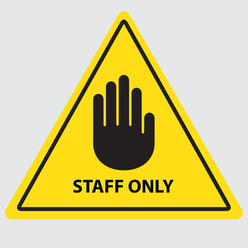staff only vector sing