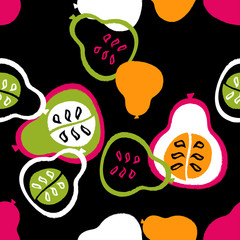 abstract pattern with pears
