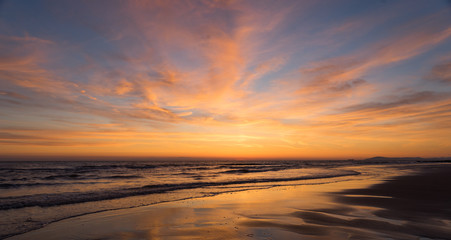Sunset Seascape, Cleveleys, Lancashire