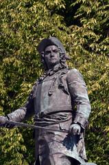 Statue of Admiral Peter Tordenskjold in Oslo, Norway,
