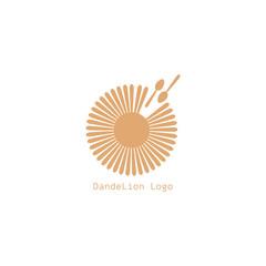 dandelion icon. dandelion logo vector illustration eps 10.