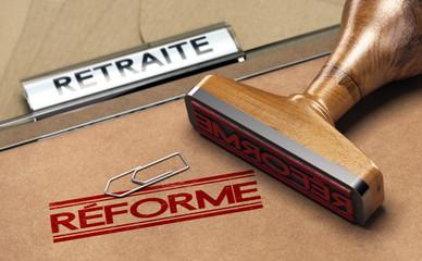 Réforme des retraites et des régimes spéciaux.