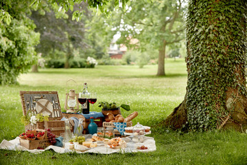 Poster Picnic Outdoors lifestyle picnic in a lush green park