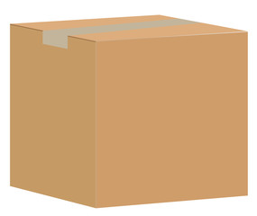brown closed carton delivery packaging box isolated on white background. paper box sign. blank cardboard box.