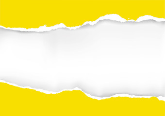 Yellow ripped paper background. 