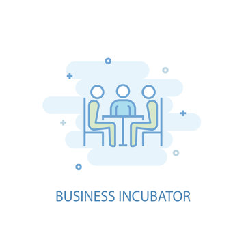 Business incubator line trendy icon. Simple line, colored illustration