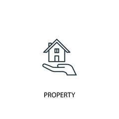 Property concept line icon. Simple element illustration