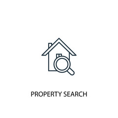 property search concept line icon. Simple element illustration