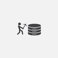 Data mining base icon. Simple sign illustration