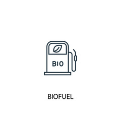 Biofuel concept line icon. Simple element illustration