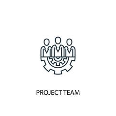 Project team concept line icon. Simple element illustration