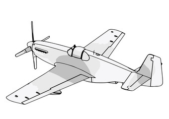 vector airplane sketch